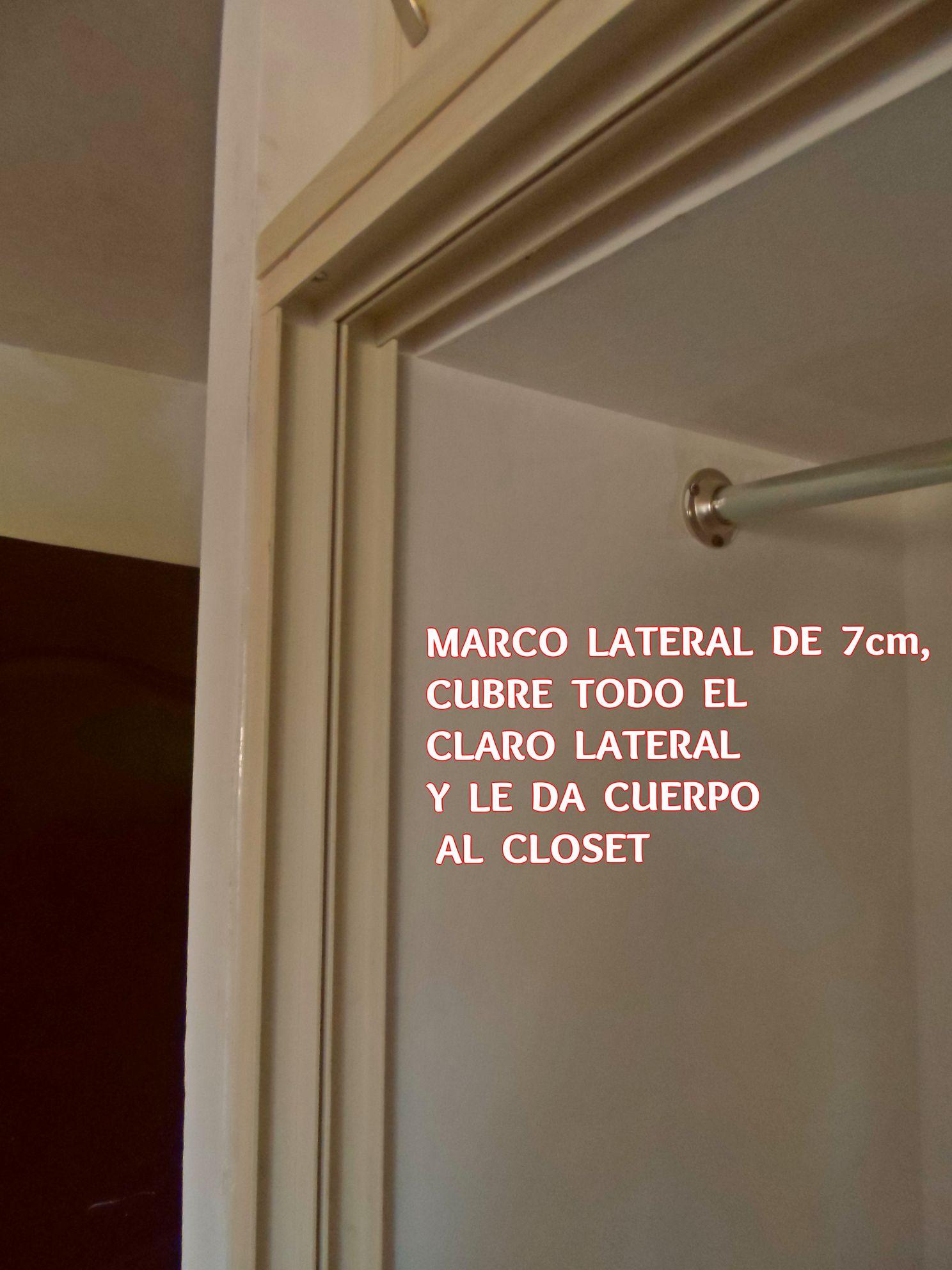 MARCO LATERAL DE PVC PARA CLOSETS